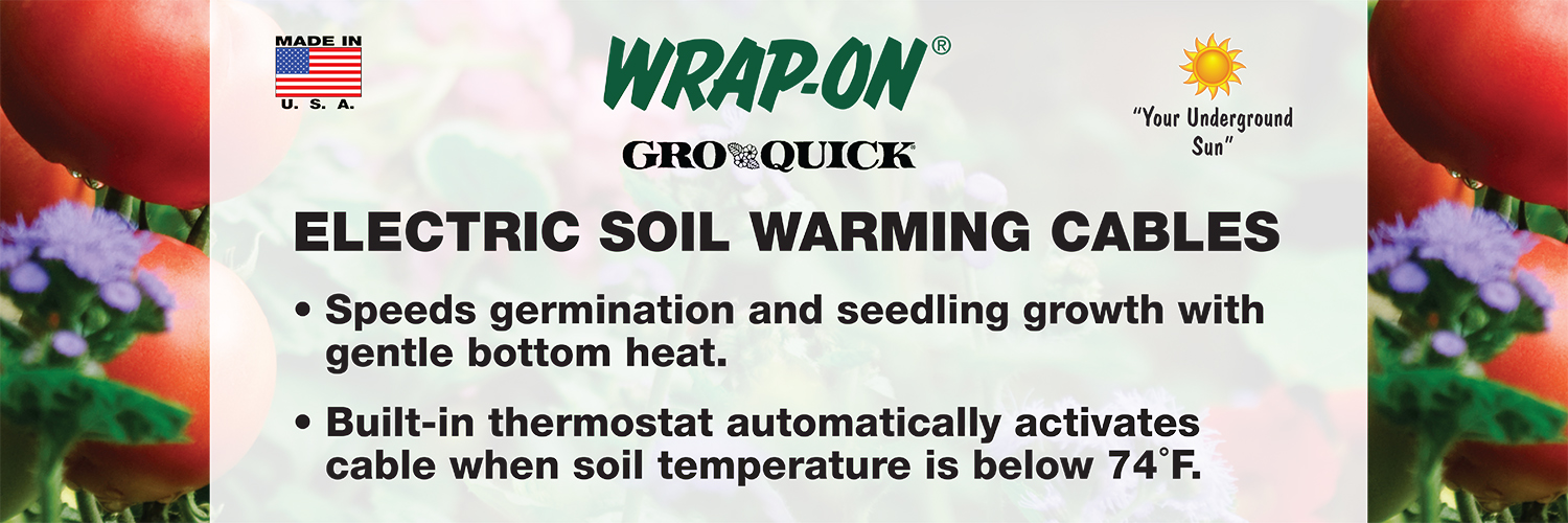Electric Soil Heating Cable : Gro quick display wrap on